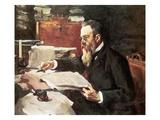 Nikolai Rimski-Korsakov Giclee Print by Valentin Serov