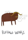 Buffalo Wings Giclee Print
