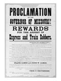 Wanted Poster, 1881 Giclee Print