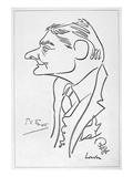 T S Eliot (1888-1965) Giclee Print by Oscar Berger