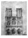 Paris: Notre Dame, 1848 Art by Eugène Viollet-le-Duc