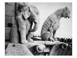 Notre Dame: Gargoyles Giclée-Druck von Eugène Viollet-le-Duc