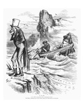 Fishing Rights, 1877 Giclee Print by Thomas Nast