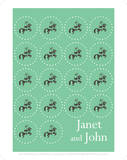 Janet And John Green Circles Prints
