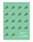 Janet And John Green Circles Prints