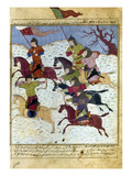 Mongol Battle, c1400 Prints by Rashid al-Din Hamadani