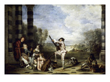 Watteau: The Music Party Art by Jean Antoine Watteau