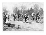 Bicycle Race, 1896 Giclee Print by Arthur Burdett Frost