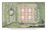 Georgia: Town Plan, 1734 Giclee Print by Georg Matthaus Seutter