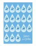 Janet And John Blue Water Drop Prints