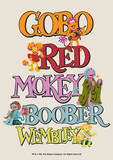 Fraggle Rock-Gobo, Mickey, Wembley, Boober And Red Posters by Jim Henson