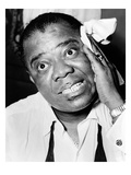 Louis Armstrong (1900-1971) Giclee Print by Herman Hiller