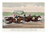 Jerome Park Horse Race, 1873 Giclee Print by  Currier & Ives