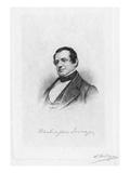 Washington Irving Giclee Print by Samuel Hollyer