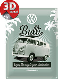 VW Retro Bully Plaque en métal