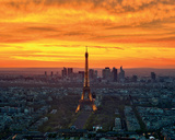 Sunset from Montparnasse Print by  AG