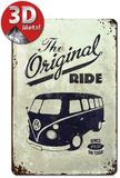 VW The Original Ride - Metal Tabela