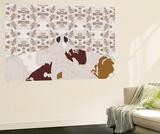 Jet Swarm Pattern Wall Mural by Belen Mena