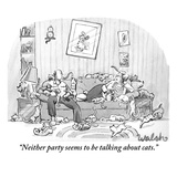 """Neither party seems to be talking about cats."" - New Yorker Cartoon Premium Giclee Print by Liam Walsh"