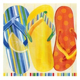 Colorful Flip Flops Posters by Mary Escobedo