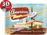 American Diner Cartel de chapa