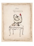 Salut Chick Giclee Print by Emily Adams