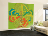 Lime Green Zuca Fantasy Wall Mural – Large by Belen Mena