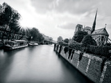 Classic B&W Notre-Dame Art by  AG