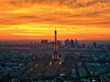 Sunset from Montparnasse Prints by  AG
