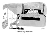&quot;My wife! My best friend!&quot; - New Yorker Cartoon Premium Giclee Print by Andy Friedman