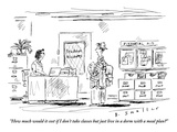 """How much would it cost if I don't take classes but just live in a dorm w…"" - New Yorker Cartoon Premium Giclee Print by Barbara Smaller"