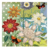 Polka Dot Daisy Giclee Print by Walter Robertson