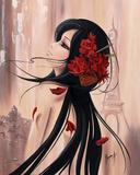 Lilou Paris et Romance I Poster by Aurélie Rhumeur