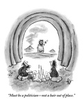 """""""Must be a politician—not a hair out of place."""" - New Yorker Cartoon Premium Giclee Print by Frank Cotham"""
