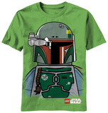Youth: Lego Star Wars - Boba Lego Face T-shirts