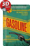Gasoline Plaque en métal