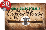 Coffee House Tin Sign