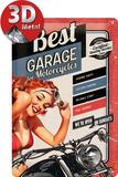 Best Garage Red Cartel de chapa
