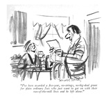 """I've just been awarded a ?ve-year, no-strings, no-big-deal grant for plai…"" - New Yorker Cartoon Premium Giclee Print by Donald Reilly"