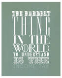 The Hardest Thing In The World Poster