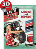 Best Garage Green Cartel de chapa