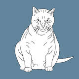 Fat Cat Art by Anna Nyberg