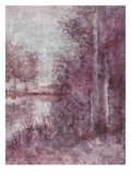 Shimmering Plum Landscape 2 Poster by Jill Schultz McGannon