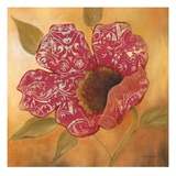Filigree Poppy 2 Poster by Sandra Smith