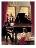 Piano Jazz Print by Brent Heighton