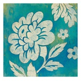 Blue Floral Poster von Hope Smith