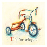 T is for Tricycle Print by Catherine Richards