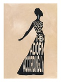 Text Dress Giclee Print by Lisa Jones