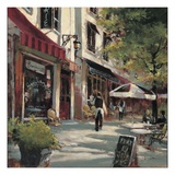 Boulevard Cafe Giclee Print by Brent Heighton