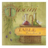 Tuscan Table Giclee Print by Angela Staehling
